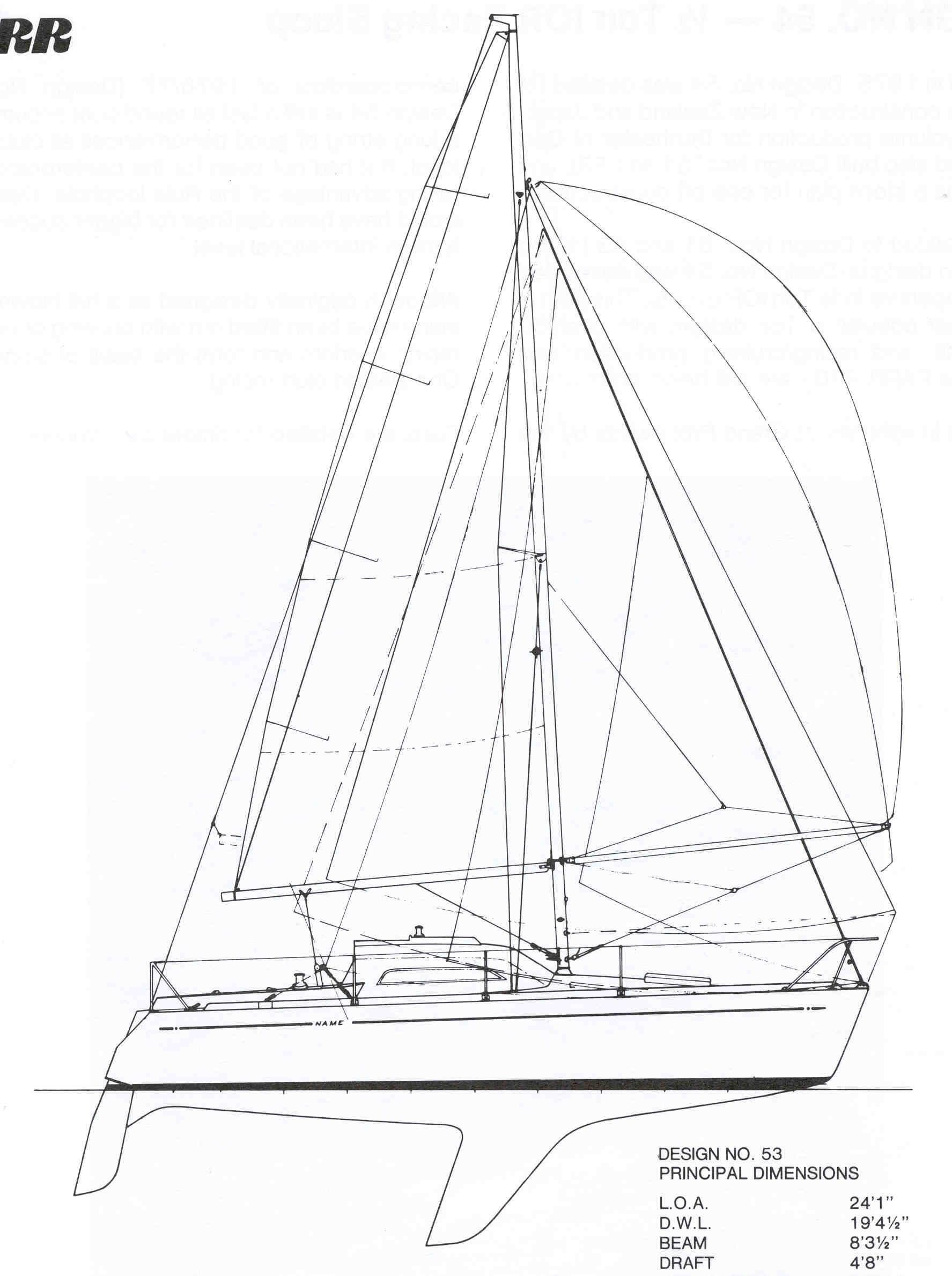 fyd 1 4 ton ior racing sloop design 53
